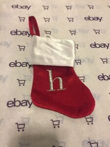 e9b475559 New Christmas Mini Monogram Stocking Letter h by Merry Brite 8 inch ...