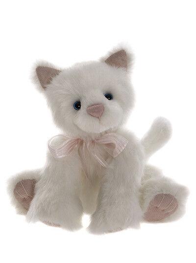 NEW 2017 Charlie Bear Kitten WITNER WONDLAND Collection Snowdrop Plush Cat 26 cm