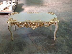 Tavolino Salotto Legno Foglia Oro.Dettagli Su Tavolino Rettangolare Legno Panna Foglia Oro Strass Avorio Arredo Casa Soggiorno