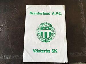 VASTERAS-SK-V-SUNDERLAND-PRE-SEASON-FRIENDLY-1976-77-SEASON