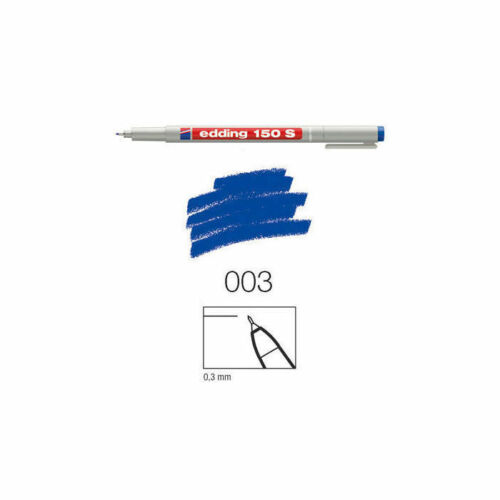 0,3mm Rundspitze blau Edding 150 S non-perm.