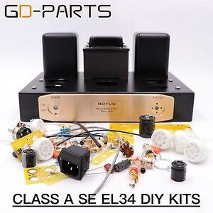 Hifi-DIY-Kits-Class-A-Single-End-EL34-Tube-Integrated-Amplifier-Vintage-Tube-AMP