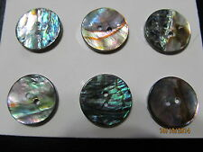 """Pearl Blazer Buttons Lot coat Sewing Trims Genuine Pearl  Gr. Abalone 7/8"""" 10  P"""