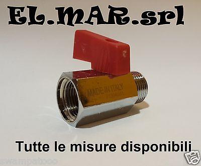 """MINI Rubinetto a sfera M F 1/8"""" 1/4"""" 3/8"""" 1/2"""" aria compressa compressore"""