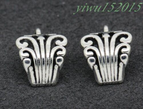 Tibetan Silver Charm microporeux Bail Beads Fit À faire soi-même Collier 10-260pcs #2
