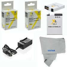 Battery for Nikon Coolpix AW110 AW120 S6300 S9200 S9300 /2 Pcs EN-EL12 + Charger