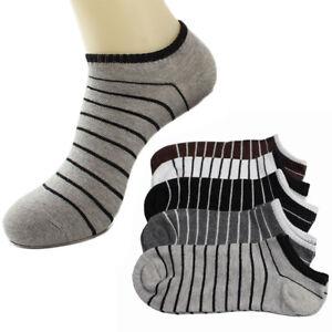 1-Pair-Mens-Stripe-Cotton-Sock-Comfortable-Ankle-Socks-Summer-Breathable-Soxs-N