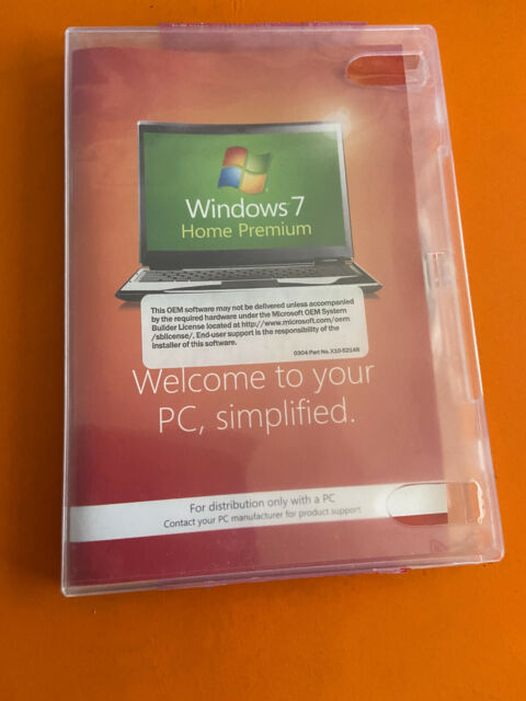 Microsoft Windows 7 Home Premium 64 Bit Full Version DVD with Product Key