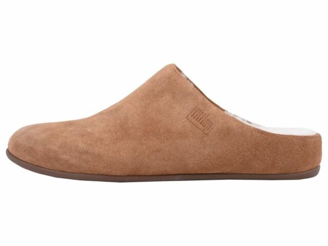 7d216991c FitFlop Womens Chrissie Shearling Suede Slippers Tumbled Tan Size 9 ...