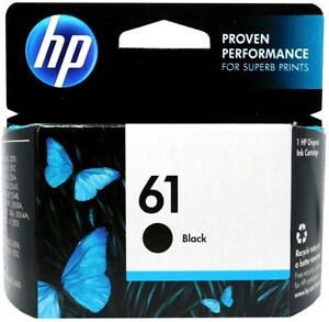 HP #61 Black Ink Cartridge 61 CH561WN NEW GENUINE