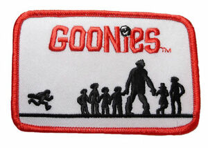 """2 Premium Quality Patches Goonies Movie Logo 4/"""" to 5/"""" Embroidered Set of"""