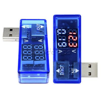 DC 4.5V-18V USB Dual LED Voltage Detector Current Meter Voltmeter Test Tester