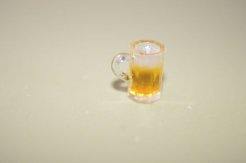 Miniature Beer Mug Filled recreation in 1:12 doll scale