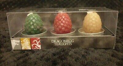NEW PRIMARK HBO GAME OF THRONES TV  DRAGONS EGG 3 TEA LIGHT SET boxed