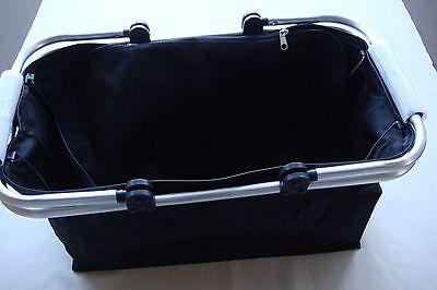 Einkaufskorb Transportkorb Transporttasche flach klappbar schwarz mit Alugriffen