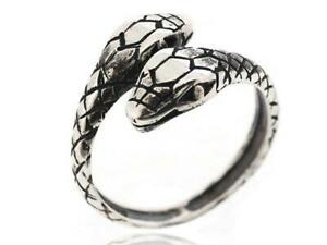925 Sterling Silver Gothic Snake Animal Vintage Jewelry
