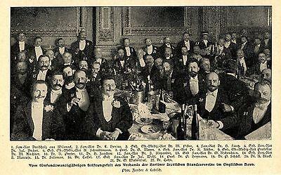 25 Jahre Verband Der Berliner ärztlichen Vereinigung * Bilddokument Von 1903 Modernes Design
