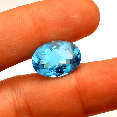 IF-VVS OUTSTANDING SKY BLUE TOPAZ LOOSE GEMSTONE 13.00 mm ROUND NATURAL AAA