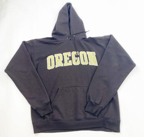Champion Oregon Hoodie Sweatshirt Mens Medium Brow