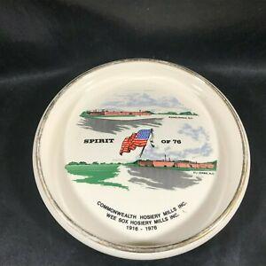 Commemorative Ceramic Ashtray Commonwealth Wee Sox Hosiery Spirit of 76