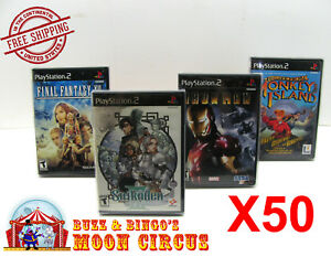 50X-SONY-PLAYSTATION-PS2-CIB-GAME-CLEAR-PROTECTIVE-BOX-PROTECTORS-SLEEVE-CASE