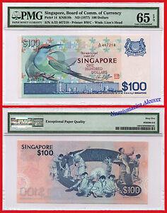 Singapur-Singapur-100-US-Dollar-US-Dollar-1977-pick-14-unc-PMG-65EPQ