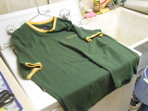 Abercrombie-Fitch-Green-Yellow-w-White-Trim-Short-Sleeve-Shirt