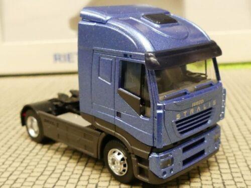 1//87 Rietze Iveco Stralis 2-AXE ZM bleu métallisé 60804