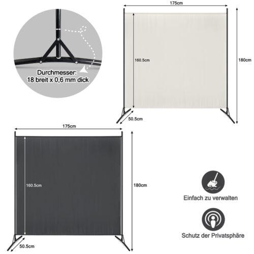 Spanische Wand Raumteiler Paravent Zimmer Sichtschutz Stellwand Beige//Anthraz DE