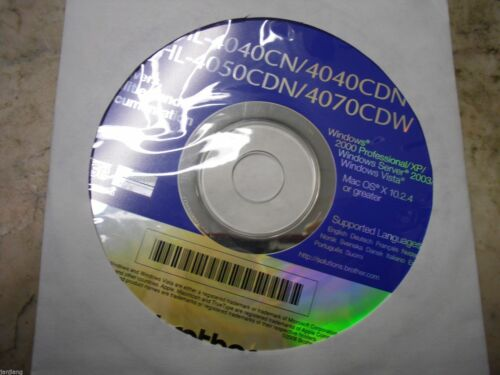 Utilities and Document Brand new  Genuine Brother HL4040CN CD Software  Drivers