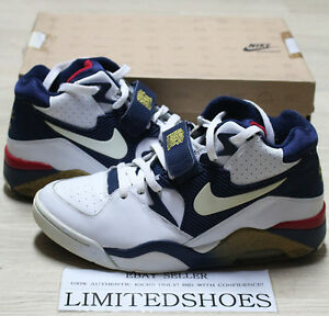 competitive price 5ccac 1539e Image is loading NIKE-AIR-FORCE-180-WHITE-NAVY-RED-BARKLEY-