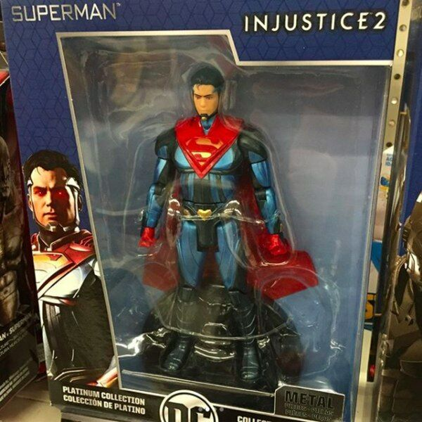 DC Multiverse Injustice 2 Superman Metal Platinum Collection Justice League NISB
