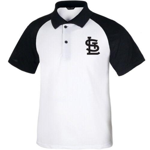 KH1001 St Louis Cardinals RAGLAN polo t-shirts Baseball Col Tee uniforme 0117