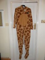 Mens Onesie Sleepsuit Fancy Dress Giraffe With Pockets Size Small Free P&p