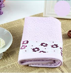 Purple-Flower-Quality-Bamboo-Fibre-Soft-Waffle-Towel-34x76cm