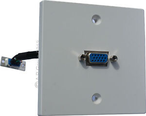 SVGA-Wall-Mounted-Faceplate-with-15-pin-D-Sub-16-5cm-Fly-lead-Vga-easy-Install