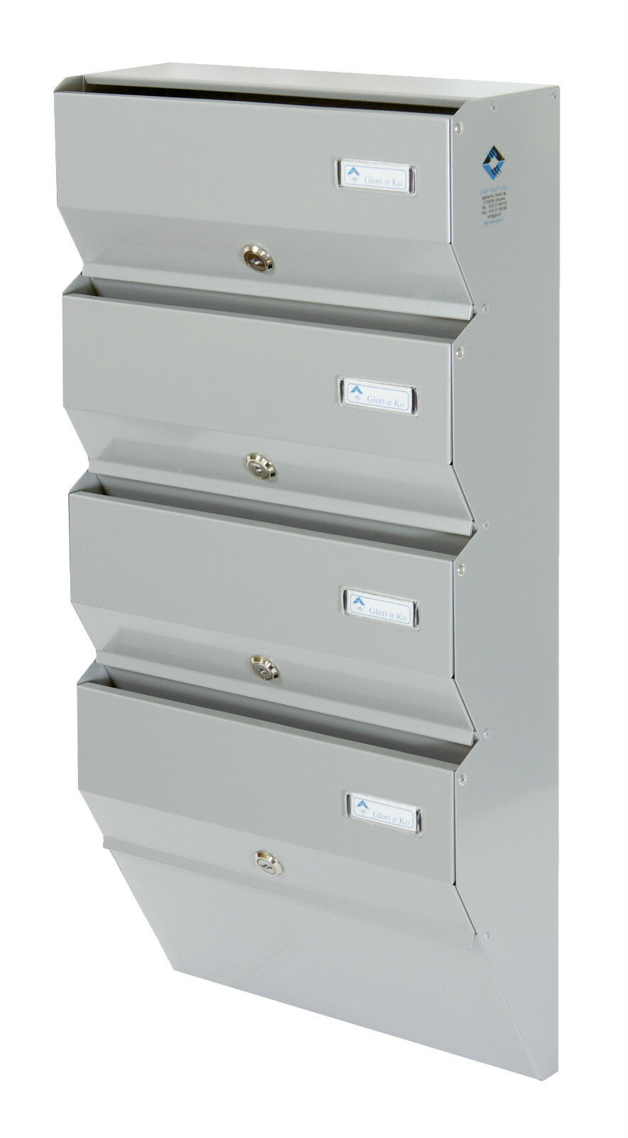 Multiple Postbox 5x Multi Occupancy Indoors Mailboxes Letter box