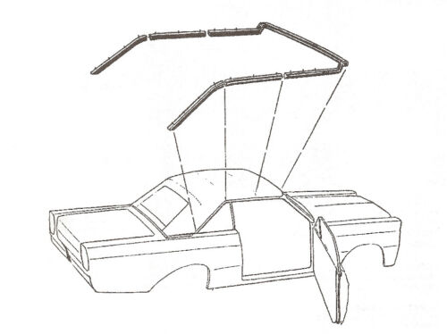 1965-1968 Mercury Monterey /& Parklane convertible top frame weatherstrip seals