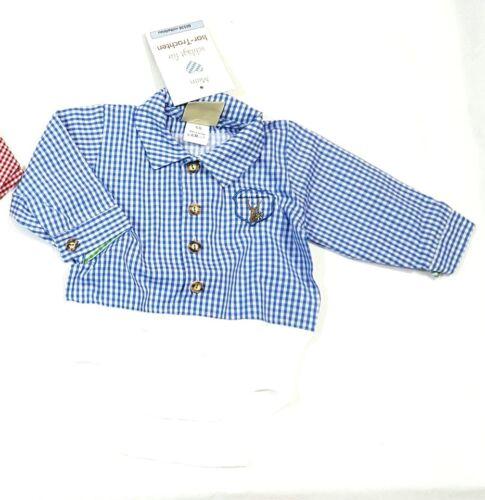 Isar Trachten Hemd//Body  für Baby Gr.56 bis 92 100 /% Baumwolle