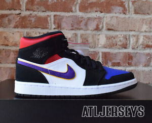 Details about Nike Air Jordan 1 Mid SE Lakers Rivals Black White 852542 005 Size
