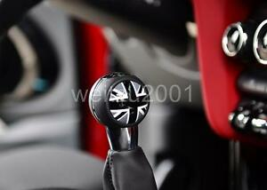 Black Union Jack Manual shift knob badge trim for MINI COOPER F60 F56 F54 F55