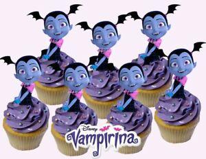 Disney VAMPIRINA Cupcake Topper (12pcs) | eBay