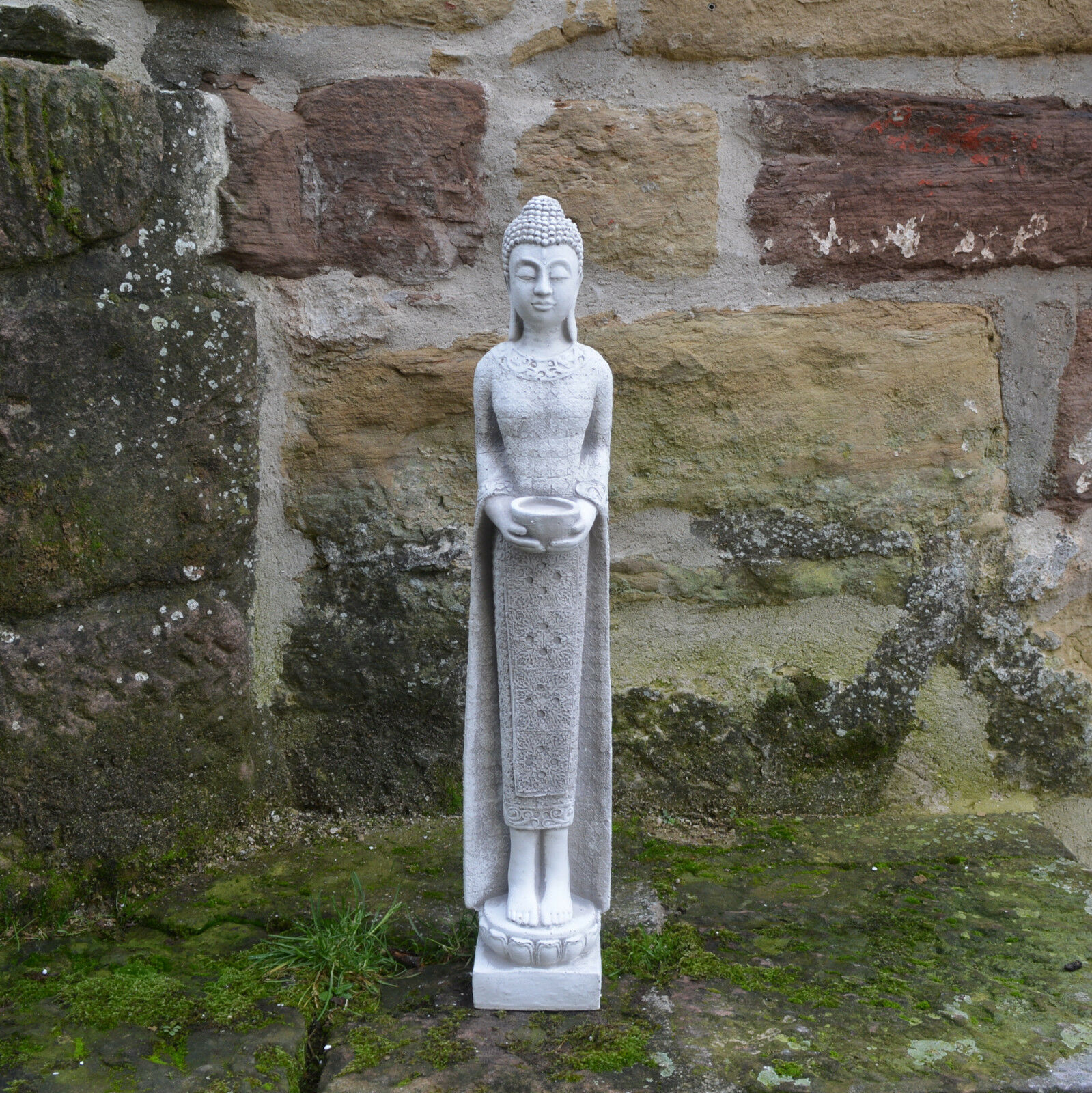prezzi più bassi Modello TOP pietra Buddha sottile Monaco guardiano guardiano guardiano tempio pietra colata gelo fisso  80% di sconto