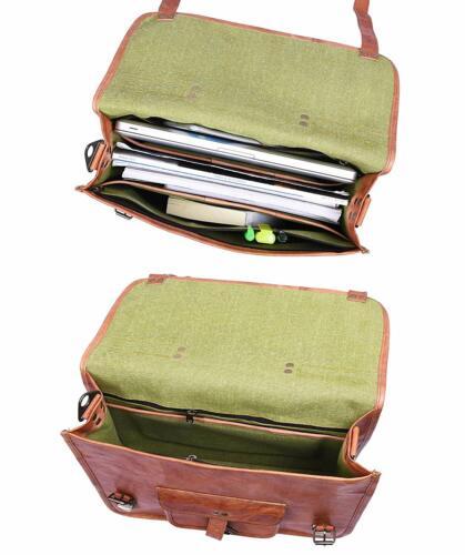 LARGE Leather messenger bag laptop bag computer case shoulder bag men Carry on