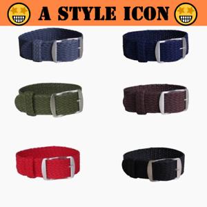 BOTTEGA-One-piece-14-16-18-20-22mm-Perlon-Nylon-Weave-Light-Watch-Band-New