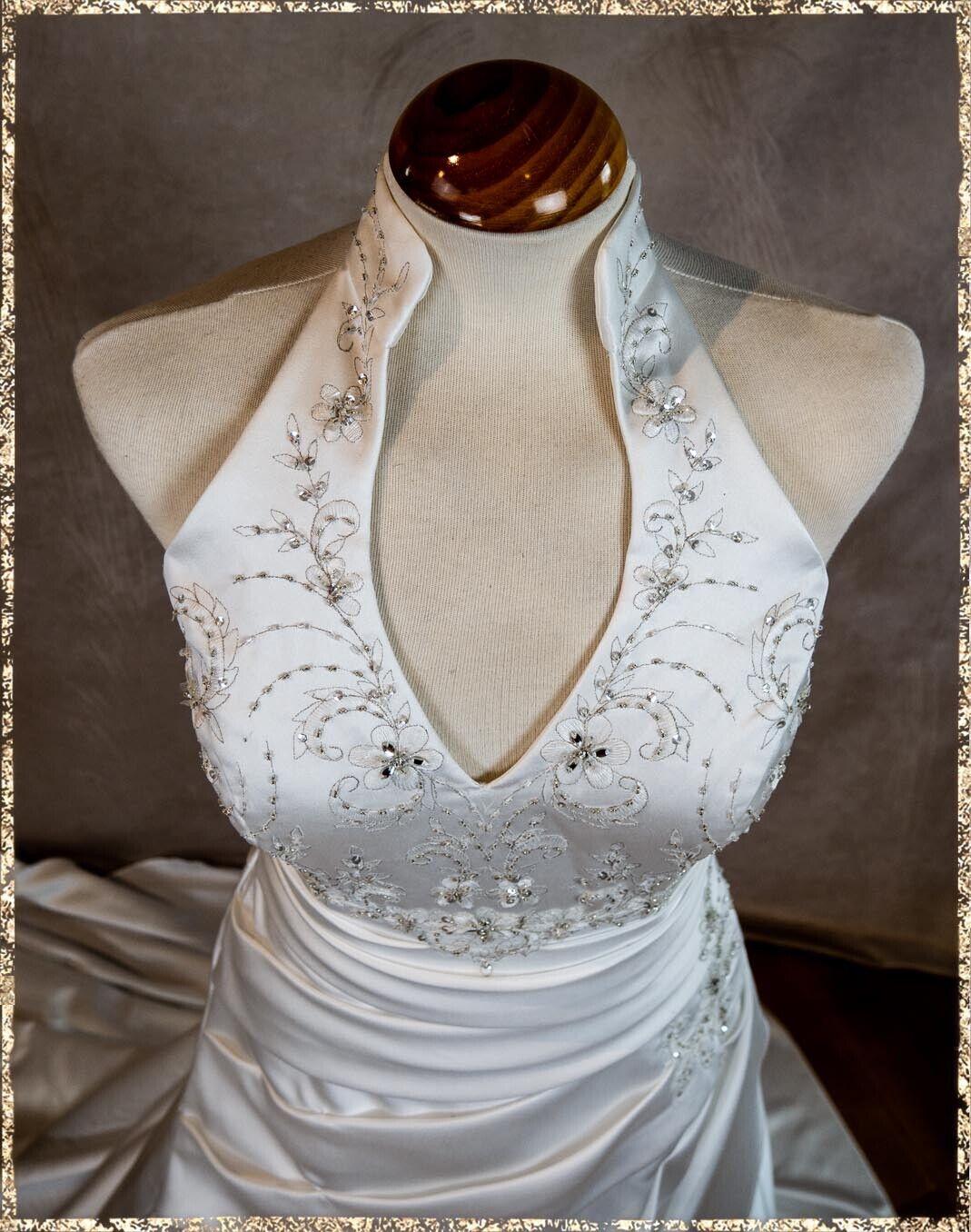 TOP Brautkleid Hochzeitskleid Einzelstück Gr. 36 Neckholder sexy Wedding Dress