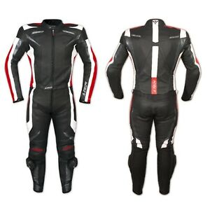 CF Armours Motorcycle Motorbike Racing Two 2 pcs Leather Suit Trousers Red