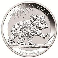 2016-P 1 oz .999 Silver Australian Koala BU Round Bullion Coin - PERTH MINT