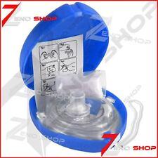 CPR Pocket Resuscitator Rescue Mask MCR Medical CPR Face Mask Blue