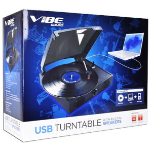 VIBE-Sound-VS-2002-SPK-USB-Turntable-Vinyl-Archiver-Record-Player-w-Speakers